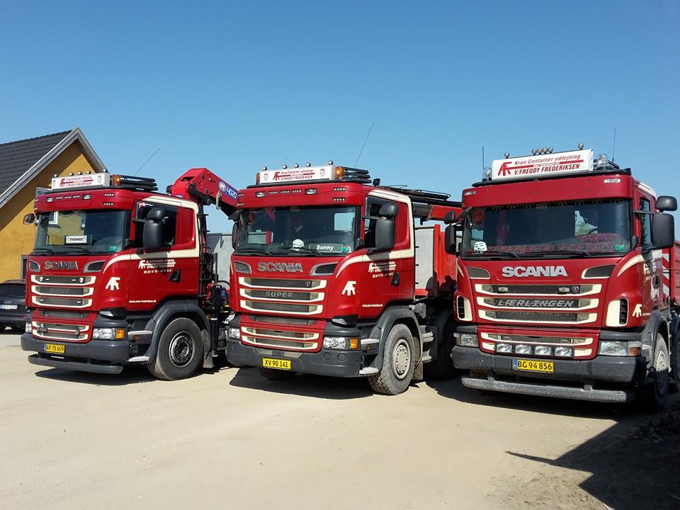 3 scania lastbiler fra vognmand.dk